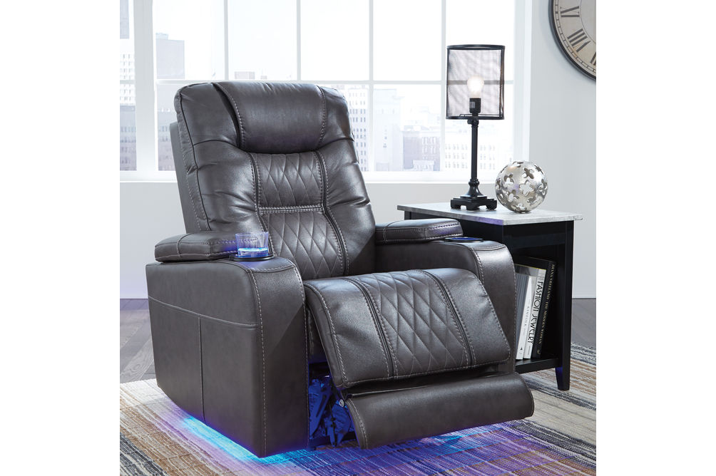 Signature Design by Ashley Composer-Gray Power Recliner- Alternate Room View