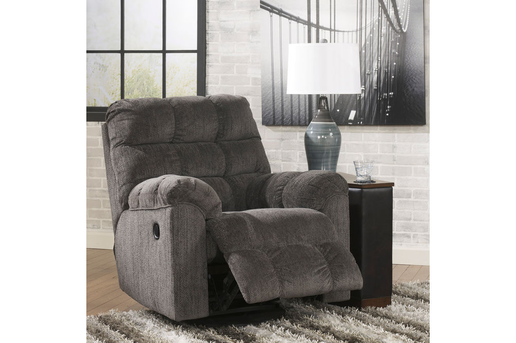 Signature Design by Ashley Acieona-Slate Swivel Rocker Recliner- Alternate View