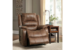 Signature Design by Ashley Yandel Power Recliner- Reclined Footrest