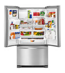 Whirlpool Stainless 25 Cu. Ft. French Door Bottom Mount Refrigerator with Water and Ice Dispenser - Open View