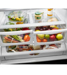 Whirlpool Stainless 25 Cu. Ft. French Door Bottom Mount Refrigerator with Water and Ice Dispenser - Crisper Drawer View