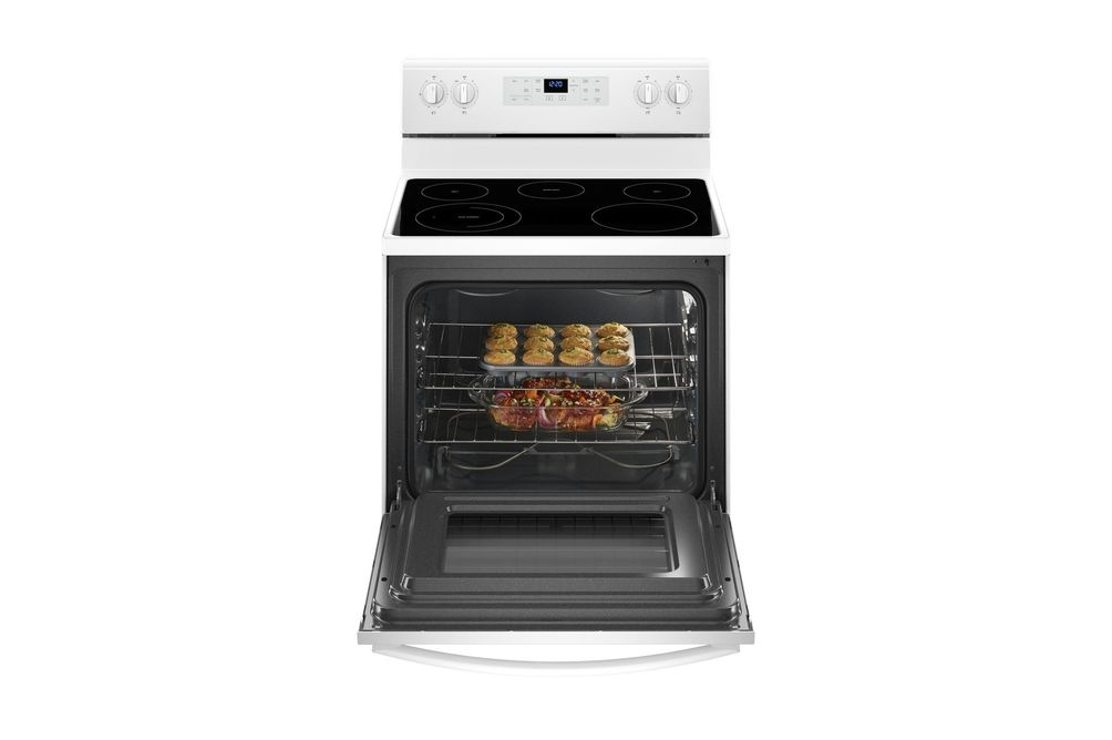 Whirlpool White 5.3 Cu. Ft. Smooth-Top Electric Range- Open View