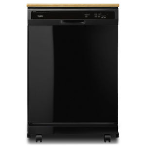 Whirlpool 24 inch Black Portable Dishwasher