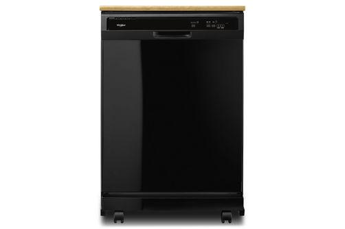 Whirlpool 24 inch Black Portable Dishwasher