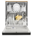 Whirlpool 24 inch Black Portable Dishwasher- Open View