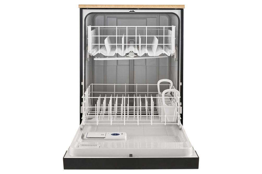Whirlpool 24 inch Black Portable Dishwasher- Alternate Open View