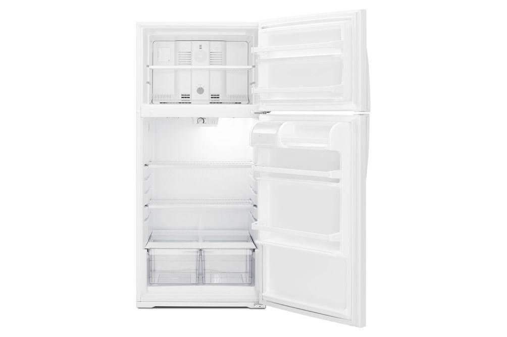 Whirlpool White 14 Cu. Ft. Top-Freezer Refrigerator- Open View