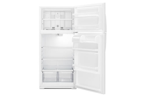 Whirlpool White 14 Cu. Ft. Top-Freezer Refrigerator- Open View