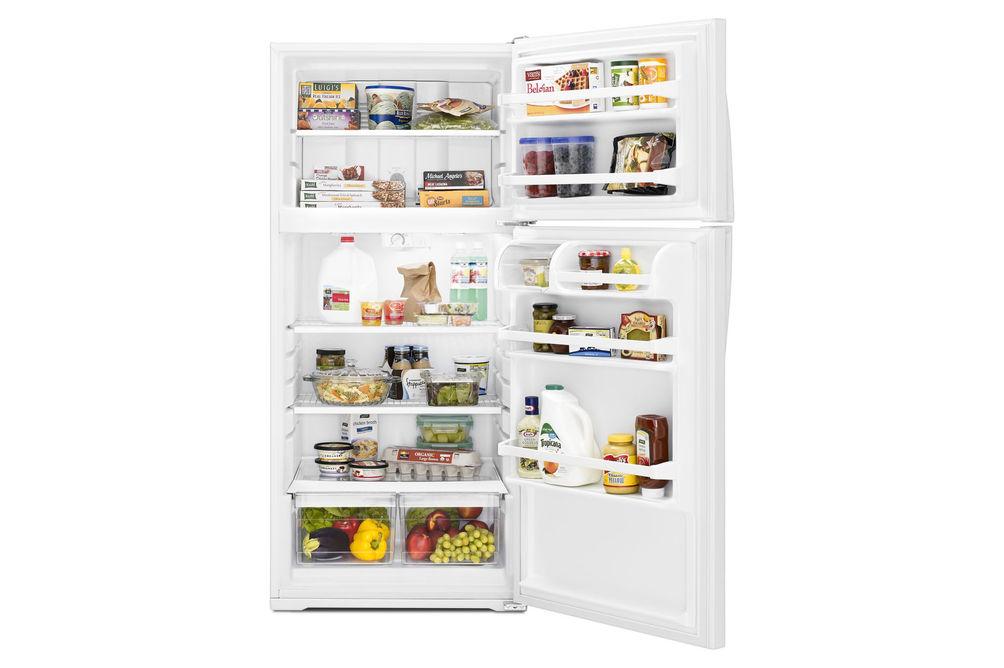 Whirlpool White 14 Cu. Ft. Top-Freezer Refrigerator- Alternate Open View