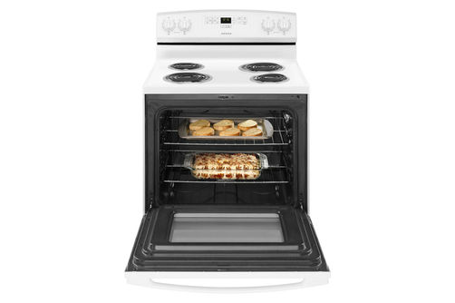 Amana White 4.8 Cu. Ft. Coil Top Electric Range- Open View