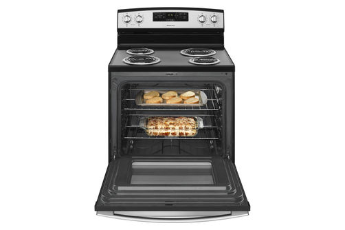 Amana Stainless 4.8 Cu. Ft. Coil Top Electric Range- Open View