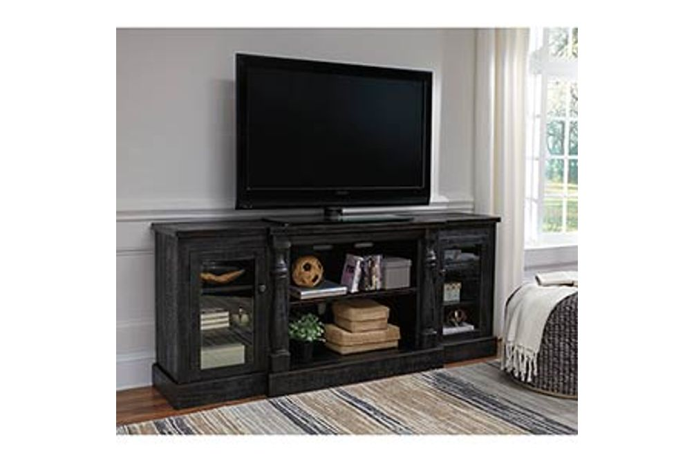 Signature Design by Ashley Mallacar 74 Inch TV Stand- Room View