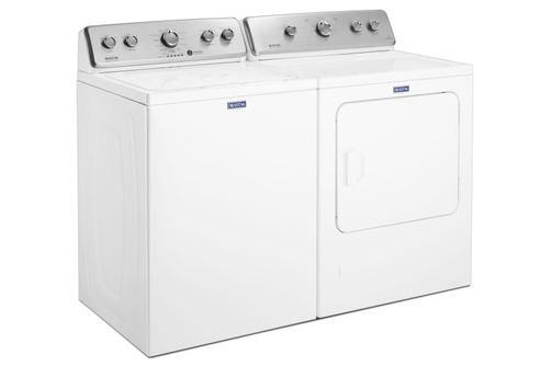 Maytag 3.8 Cu. Ft. Washer and 7.0 Cu. Ft. Gas Dryer- Side View