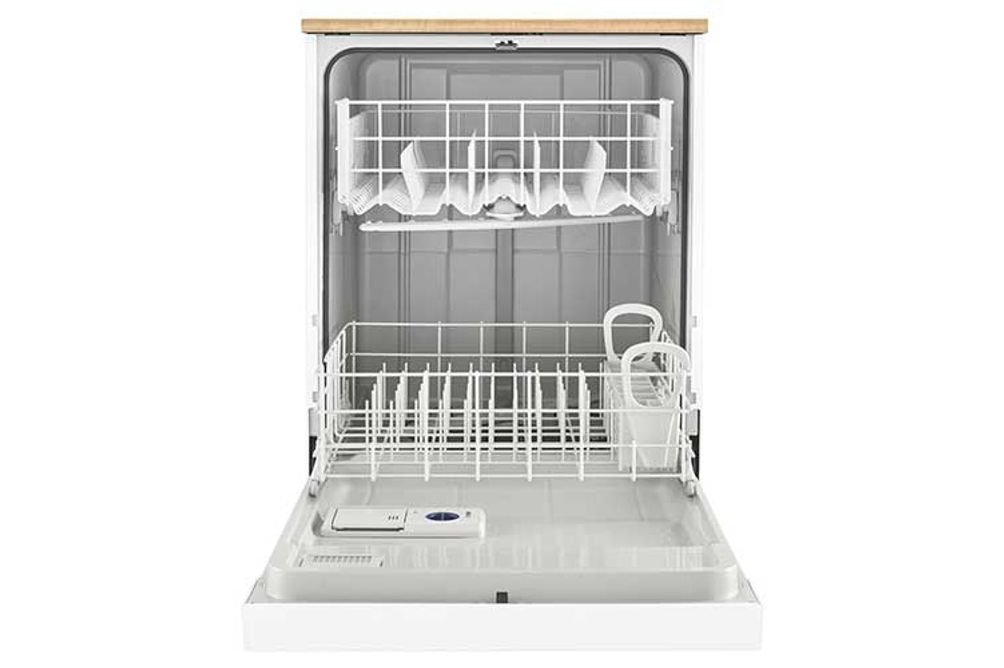 Whirlpool 24 inch White Portable Dishwasher- Inside View
