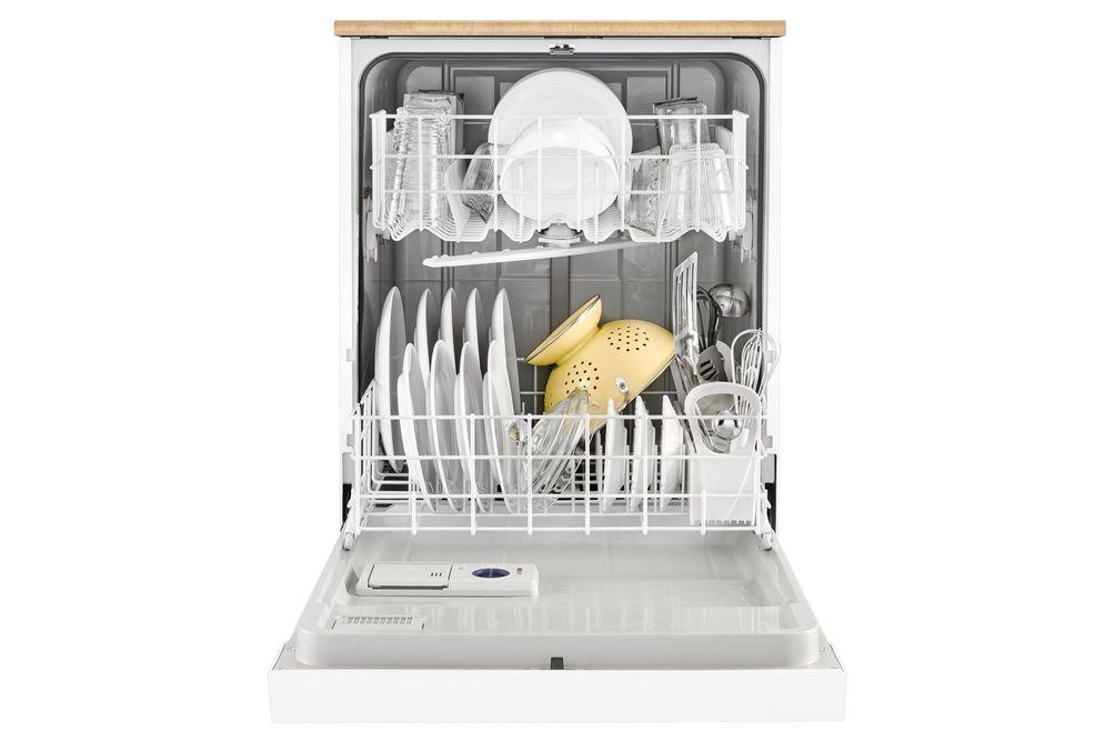 "Whirlpool 24"" White Portable Dishwasher"