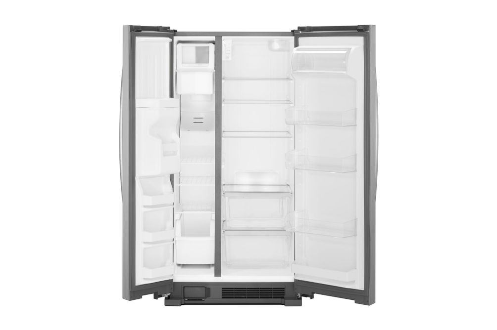 Whirlpool Stainless 21 Cu. Ft. Side-By-Side Refrigerator- Open View