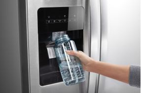 Whirlpool Stainless 21 Cu. Ft. Side-By-Side Refrigerator- Water/Ice Dispenser