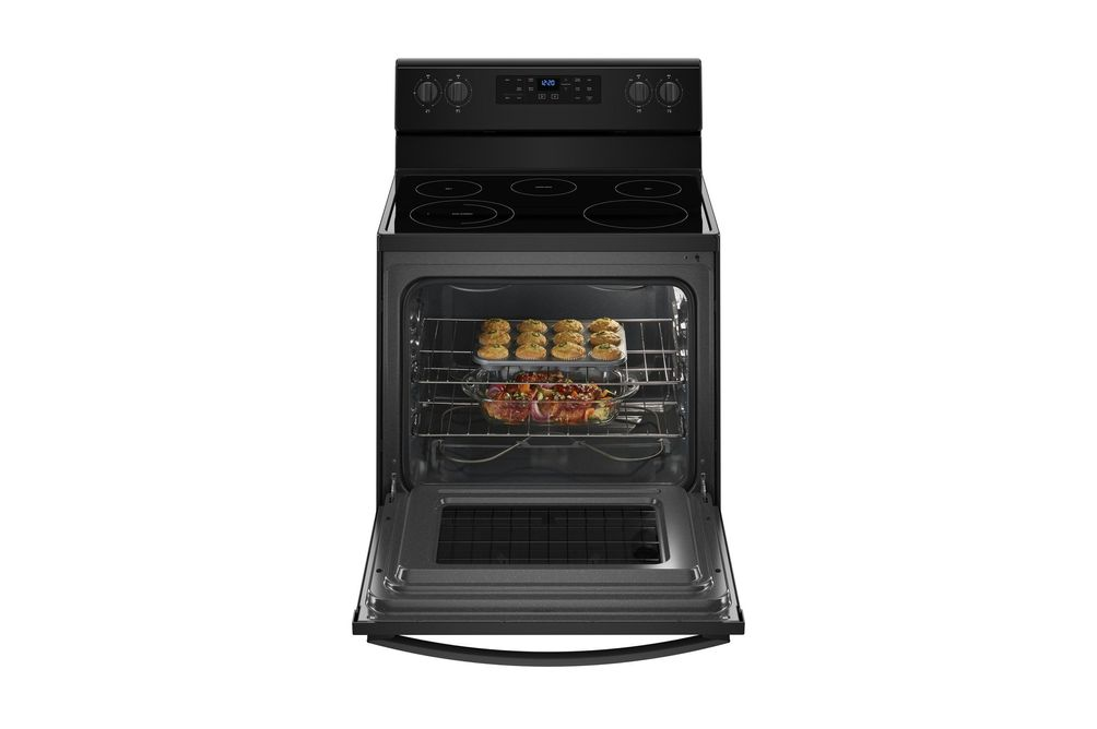 Whirlpool Black 5.3 Cu. Ft. Smooth-Top Electric Range