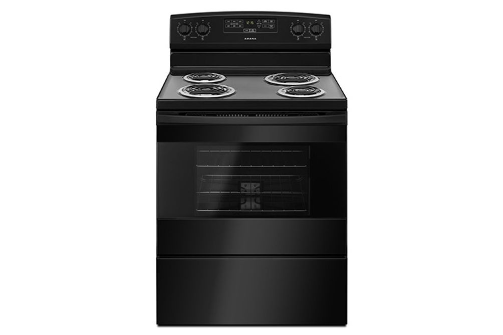 Amana Black 4.8 Cubic Feet Coil-Top Electric Range