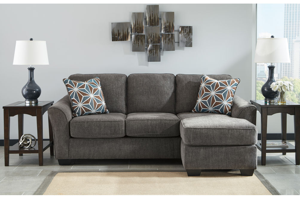 Benchcraft Brise-Slate Sofa Chaise- Room View