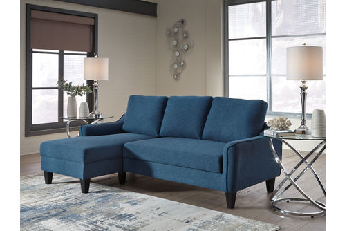 Signature Design by Ashley Jarreau-Blue Sofa Chaise Sleeper-Room View