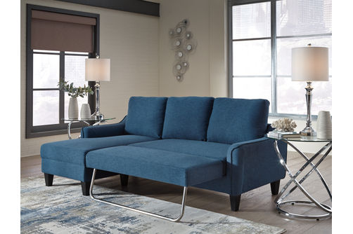Signature Design by Ashley Jarreau-Blue Sofa Chaise Sleeper-Sleeper View