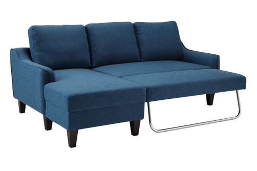 Signature Design by Ashley Jarreau-Blue Sofa Chaise Sleeper- Alternate Image