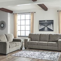 Signature Design by Ashley Termoli-Granite Sofa and Loveseat- Room View