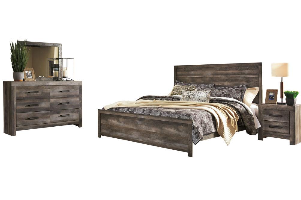 signature designashley wynnlow 6-piece king bedroom