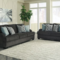 Benchcraft Charenton-Gray Sofa and Loveseat- Room View
