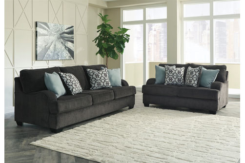 Rent to Own Benchcraft Charenton-Gray Sofa and Loveseat
