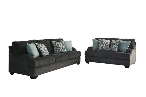 Benchcraft Charenton-Gray Sofa and Loveseat