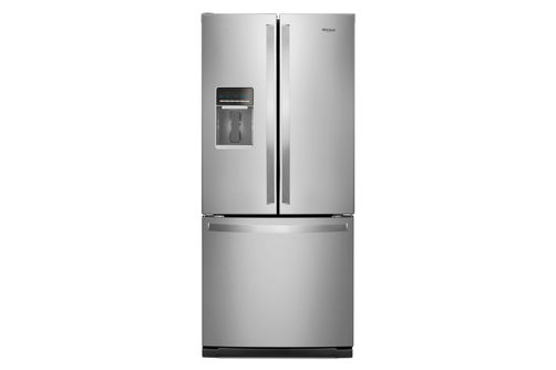 Whirlpool Stainless 20 Cubic Feet French Door Bottom Mount Refrigerator with Water Dispenser