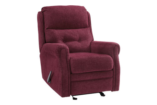 Signature Design by Ashley Penzburg-Burgundy Glider Recliner