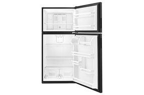 Amana Black 18 Cu. Ft. Top-Freezer Refrigerator- Open View