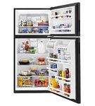 Amana Black 18 Cu. Ft. Top-Freezer Refrigerator- Open Alternate View