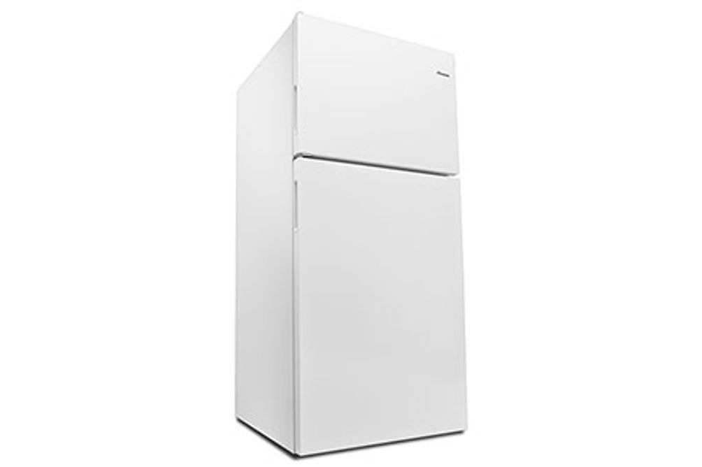 Amana White 18 Cu. Ft. Top-Freezer Refrigerator- Angle View