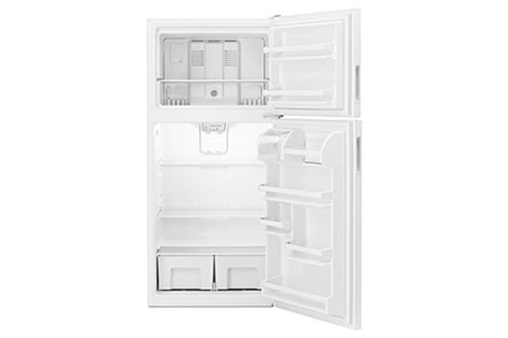 Amana White 18 Cu. Ft. Top-Freezer Refrigerator- Open View