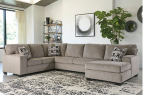 Signature Design by Ashley Ballinasloe-Platinum 3-Piece Sectional- Room View