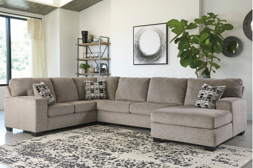 Signature Design by Ashley Ballinasloe-Platinum 3-Piece Sectional- Room View