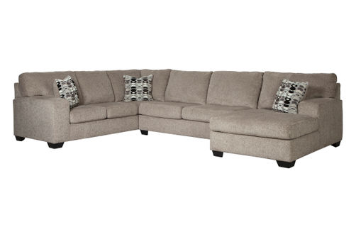 Signature Design by Ashley Ballinasloe-Platinum 3-Piece Sectional