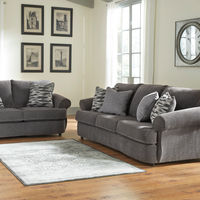 Benchcraft Allouette-Ash Sofa and Loveseat- Room View