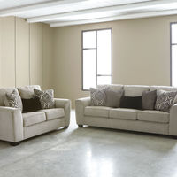 Benchcraft Parlston-Alloy Sofa and Loveseat- Room View