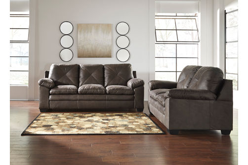 Signature Design by Ashley Speyer-Teak Sofa and Loveseat- Room View