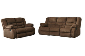 Signature Design by Ashley Tulen-Chocolate Reclining Sofa and Loveseat