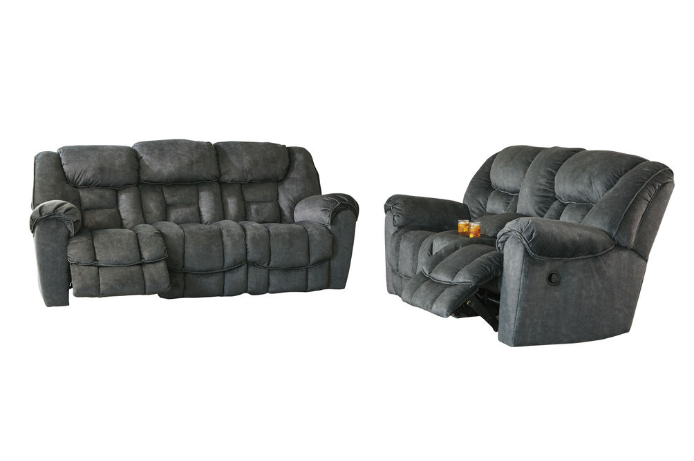Signature Design by Ashley Capehorn-Granite Reclining Sofa and Loveseat