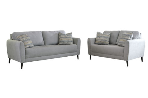 Signature Design by Ashley Cardello-Pewter Sofa and Loveseat