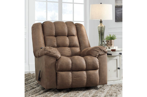 Signature Design by Ashley Adrano-Bark Rocker Recliner- Room View