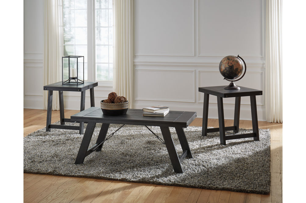 Signature Design by Ashley Noorbrook Coffee Table Set- Room View