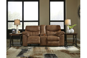Signature Design by Ashley Boxberg-Bark Power Reclining Loveseat- Room View